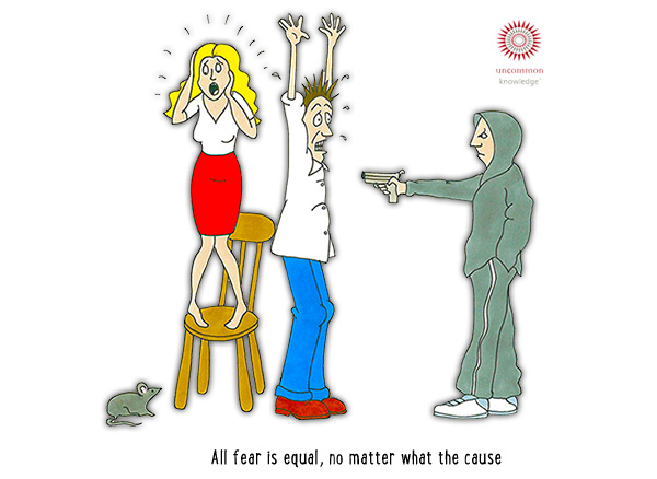 All fear is equal cartoon