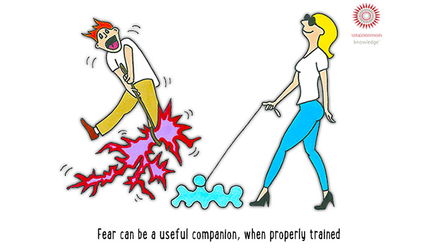 Fear is trainable Cartoon
